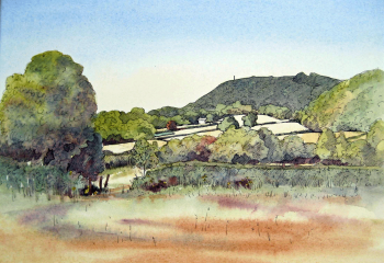 Frodsham Hill - Pen & Watercolour - 25cm x 35cm