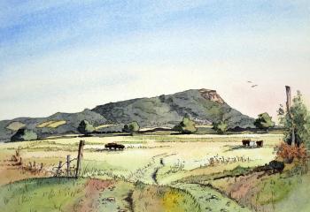 Helsby Hill - Pen & Watercolour - 25cm x 35cm