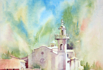 Valldemosa - Watercolour - 35cm x 25cm
