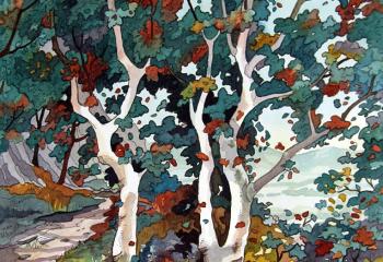Above Bethesda - Pen & Watercolour - 35cm x 25cm  SOLD