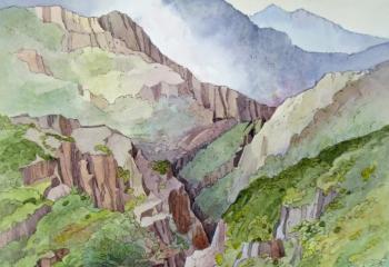 Beddgelert II - Pen & Watercolour - 50cm x 35cm