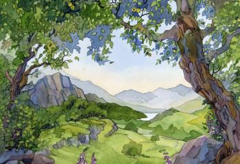 Crabapple Tree, Capel Curig - Pen & Watercolour 50cm x 35cm  SOLD