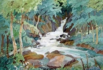 Cwm Nantcol - Pen & Watercolour - 25cm x 35cm
