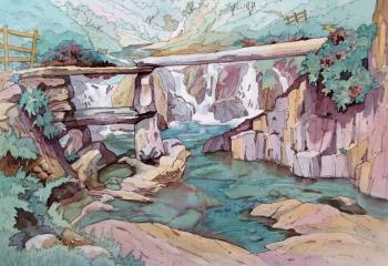 pen& watercolour, 25cm x 35cm