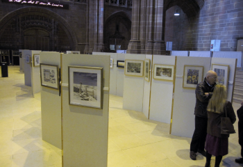 Exhibition in Liverpool Anglican Cathedral